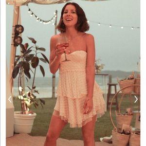 NWT Spell Mira Bustier RaRa Dress Ivory